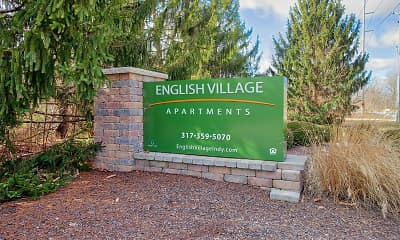 Community Signage, English Village Apartments, 2