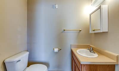 Bathroom, Central Hotel Apts. Age 55 and over, 2