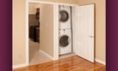 washroom featuring hardwood floors and independent washer and dryer, Arbors at Franklin Township, 2
