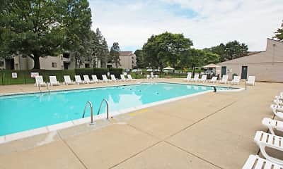 Pool, Pine Hill Apartments, 1