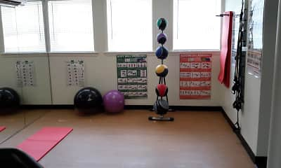 workout area featuring a wealth of natural light, Sequoia and Wabash Manor, 2