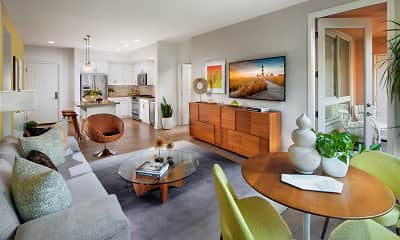 Living Room, Villas at Playa Vista - Malibu, 1