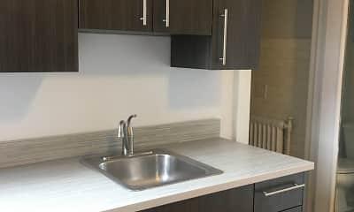 Kitchen, Normandie Apartments, 0