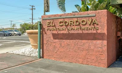 Community Signage, El Cordova Apartments, 2