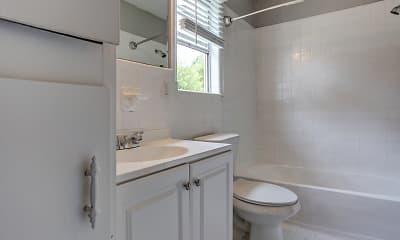 Bathroom, Charlotte 360 Townhomes & Apartments, 2