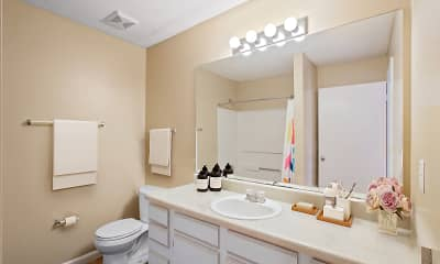Bathroom, Willow Point Apartments, 2