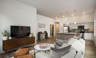 Living Room, Clinton West Luxury Apartments, 0