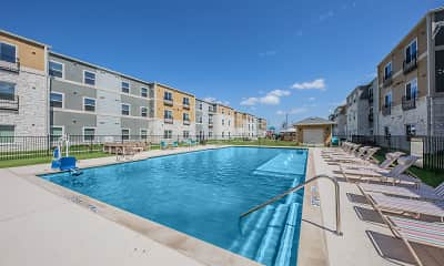 Pool, Commons at Manor 55+, 1
