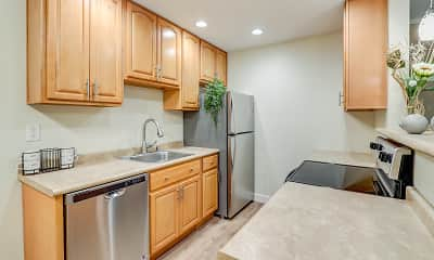 Kitchen, The Garden Apartments, 1