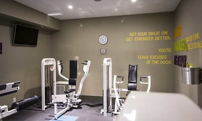 Fitness Weight Room, Canterbury Green Apartments, 2