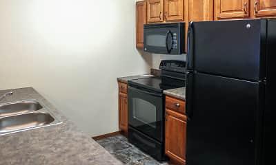 Kitchen, Prairie Village Apartments, 1