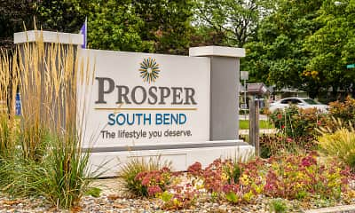 Community Signage, PROSPER South Bend, 2