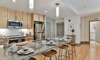 Kitchen, Midd-Town Apartments, 1