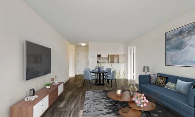 Living Room, The Avondale Apartments, 1