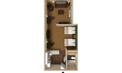 Furnished Studio - Somerset - Franklin, 2