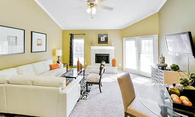 Living Room, The Winsted at Valley Ranch, 1