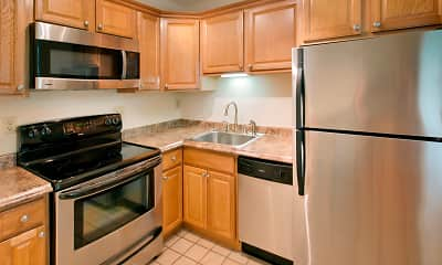 Kitchen, Rivercrest Apartments, 1