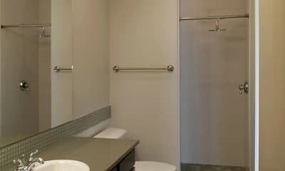 Bathroom, Sam Hughes Court Apartments, 2