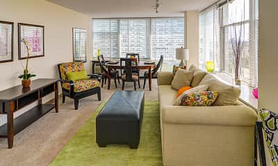 Living Room, Prairie Shores Apartments, 1