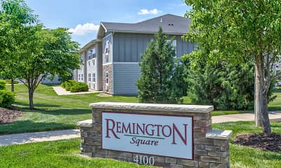 Community Signage, Remington Square, 2