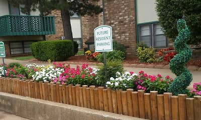 Community Signage, Indian Oaks Apartments, 1