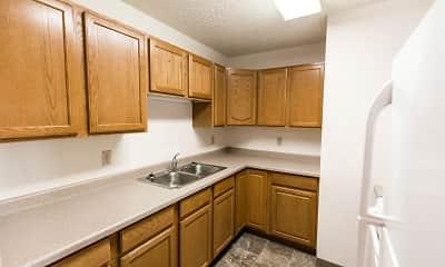 Kitchen, Riverpark Apartments, 0