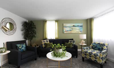 Living Room, Hollinswood Townhouses, 1