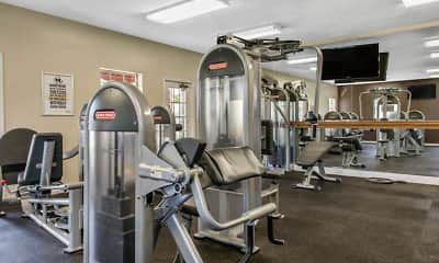 Fitness Weight Room, Gatehouse on the Green Apartments, 2