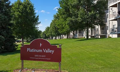 Community Signage, Platinum Valley Apartments, 1