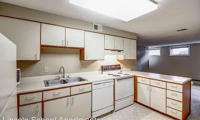 Kitchen, Lincoln School Apartments, 0