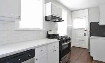 Kitchen, Oak Park Apartments, 2