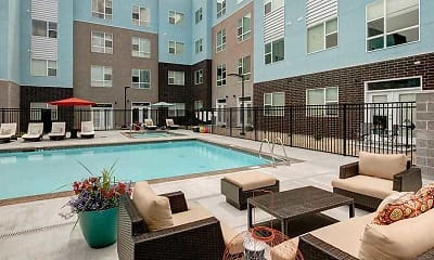 Pool, West Station Apartments, 1