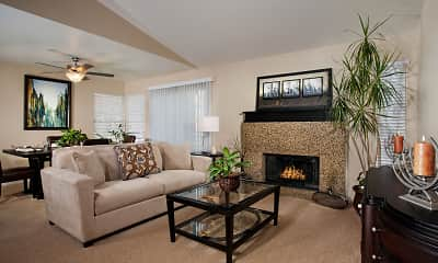 Living Room, Del Mar Apartments, 1
