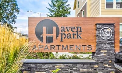 Community Signage, Haven Park Apartments, 0