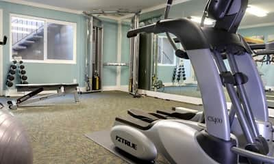 Fitness Weight Room, El Portal Apartments, 1
