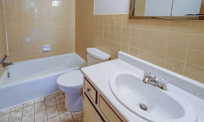 Bathroom, Maple Crest Apartments, 2