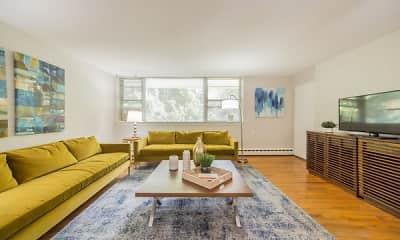 Living Room, Cherokee Apartments, 0
