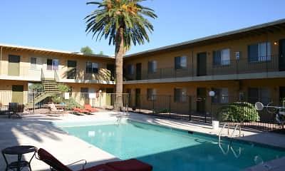 Pool, Malibu Apartments, 1