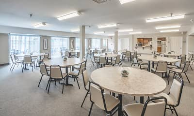 Dining Room, Oak Hill Senior Apartments, 2
