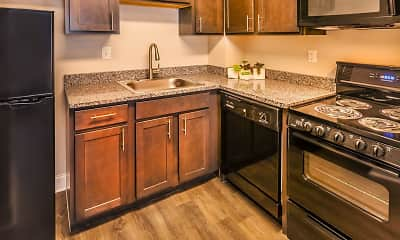 Kitchen, Circle City Apartments, 1