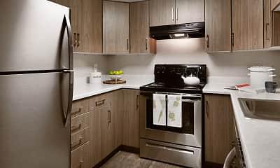 Kitchen, Clover Creek Apartments, 0