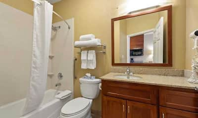 Bathroom, Furnished Studio - Houston - Kingwood, 2