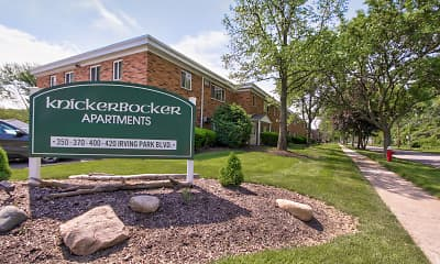 Community Signage, Knickerbocker Apartments, 0