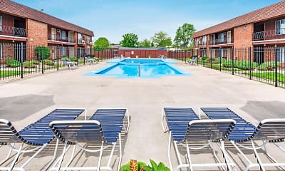 Pool, Barberry Apartments, 2