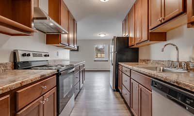 Kitchen, Stanley Terrace Apartments, 1