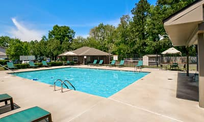 Pool, Flint River Apartment Homes, 1