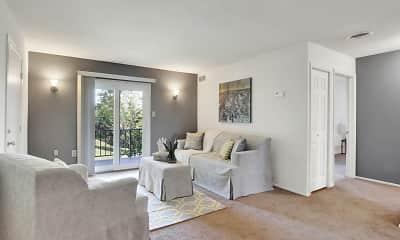 Living Room, Colonial Glen Apartments, 1