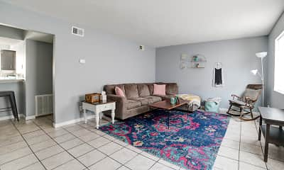 Living Room, Carter West Apartments & Townhouses, 1