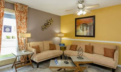 Living Room, Cantera Apartments, 1
