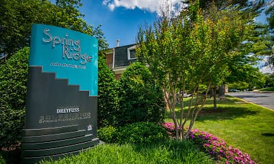 Community Signage, Spring Ridge Apartments, 0